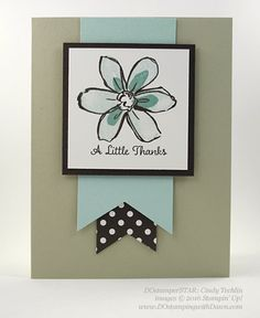 Milwaukee On Stage swap cards shared by Dawn Olchefske #dostamping #stampinup (Cindy Techlin) Garden In Bloom