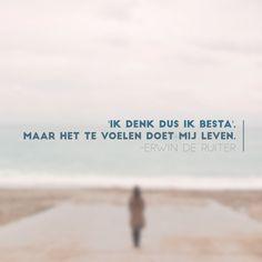 Quote van Forihaveseen.nl | @ErwinDeRuiter |  Het te voelen #ForIHaveSeen #ErwinDeRuiter #Quote
