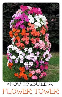 Flower Tower - Freestanding Vertical Planter A freestanding vertical planter that lets you take your flower garden to new heights and save space as well. Tower Garden, Garden Art, Plant Tower, Planter Garden, Succulent Planters, Succulents Garden, Spring Garden, Lawn And Garden, Big Garden