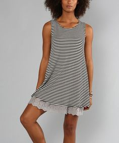 Black Stripe Olivia Scoop Neck Tunic