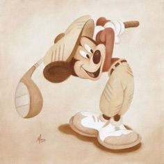s mickey mouse disney time, disney magic, walt disney, disn Disney Time, Disney Magic, Disney Disney, Mickey Mouse Art, Disney Mickey Mouse, Disney Fine Art, Golf Art, Disney Artwork, Mickey And Friends