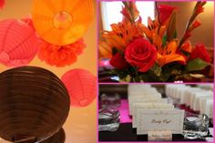 Chocolate, Pink, and Orange color scheme