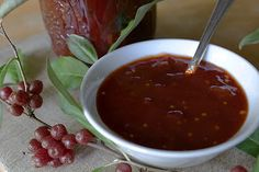 Autumn Olive Plum Chutney - like barbecue sauce