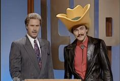 """norm macdonald as burt reynolds (aka """"Turd Ferguson"""") on SNL's Jeopardy parody..."""
