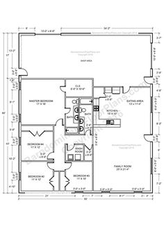 Pole Building House Plans | 40x50 Metal Building House Plans 40x60 Home Floor Plans Http