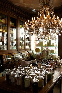 Laduree's Magical Emporium - love it! Are those candles under the glass domes??