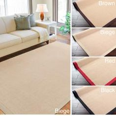 @Overstock - This large, neutral area rug is sure to complement almost any space. The rug is constructed of indoor/outdoor sisal material, and is available in beige, red, black, chocolate, or tan. Rug measures 8' x 10'. Use of a non-skid pad is recommended.http://www.overstock.com/Home-Garden/Woven-Border-Town-Rug-8x10/6535284/product.html?CID=214117 $152.79