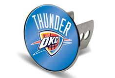 Oklahoma City Thunder NBAS Laser-etched Trailer Hitch Cover