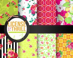 The Freebie Jubilee//License to Thrill Printable Digi Papers Collection!