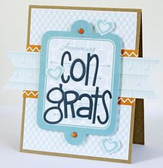 """Congrats"" card, by Gretchen McElveen"