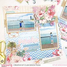 Create this stunning scrapbooking page using the Uniquely Creative Tropical Dreams Collection. Perfect for all of your holiday and vacation photos! Layout by Kylie Kingham Travel Scrapbook, Diy Scrapbook, Scrapbook Pages, Diy Paper, Paper Crafts, Burlap Ribbon, Scrapbook Page Layouts, Layout Inspiration, Craft Tutorials