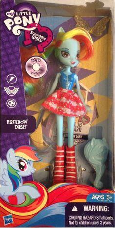 My Little Pony Rainbow Rocks Rainbow Dash poupée Rare Mon Petit Poney Set
