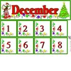 Free December Calendar Set includes month and number cards...