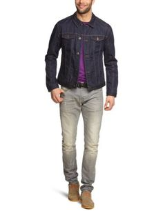Esprit - Blouson - Homme - Bleu (Rinse Used) - FR : S (Taille fabricant : S) Esprit, http://www.amazon.fr/dp/B00BCHS994/ref=cm_sw_r_pi_dp_GWFbsb0EGCH62