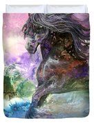 Stormy Wind Horse Duvet Cover by Sherry Shipley