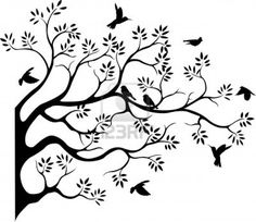 Beautiful Tree Silhouette With Bird Flying Royalty Free Cliparts, Vectors, And Stock Illustration. Image 14524207.