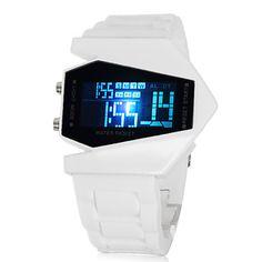 Orologio LED con cinturino in silicone - Bianco – EUR € 6.11