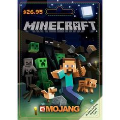 **YES PLEASE!! TARGET/WALMART- GIFTTCARD FOR MINECRAFT GAME -Mojang Minecraft $26.95 Game Card