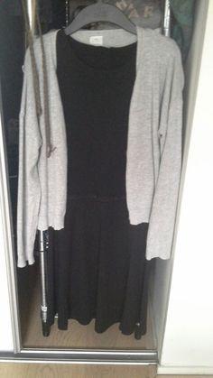Grijs vestje/Zara Zwart jurkje met glitter band/tumble 'n dry