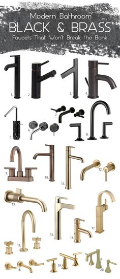 black & brass kitche