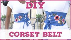 Diy Corset, Corset Belt, Bow Tie Collar, Bow Ties, Pinking Shears, Jean Vest, Good Tutorials, Old Jeans, Fall Accessories