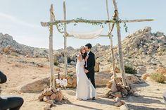 Boho Winter Desert Wedding