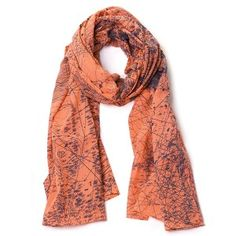 Bella Ballou Cotton Scarf - Take Me Home in Nectarine and Dark Grey
