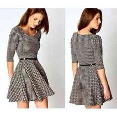 sleeves dress (bit longer for work attire) Dresses For Teens, Cute Dresses, Casual Dresses, Short Sleeve Dresses, Dress Outfits, Fashion Dresses, Dress Skirt, Dress Up, Frack