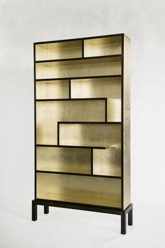 gold Bookshelf by Harris Rubin | NIBA Home