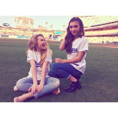 Girl Meets World Cast Attends Dodgers Game! ❤ liked on Polyvore featuring pics