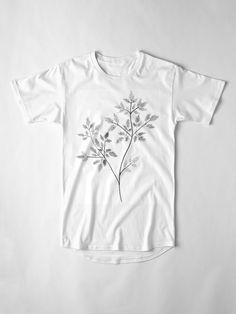 """Chervil in Black and White"" Long T-Shirt by OrionRose   Redbubble      #art #blackandwhite #black #and #white #chervil #herbs #aesthetic #artist #artwork #arte #pale #boho #indie #hipster #vintage #fashion #mensfashion #womensfashion #womenswear #menswear #men #women #fashion"