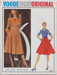 Vintage 70s Jean Patou Vogue Paris Original Pattern by CloesCloset