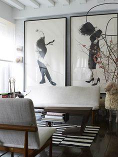 living room decor | home decor ideas | wall art ideas | black and white living room
