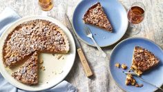 Rick Stein - almond tart. This wonderful tart brings together crisp pastry and butterscotch-tasting almonds. For this recipe you will need a loose-bottomed 24cm/9½in fluted tart tin.