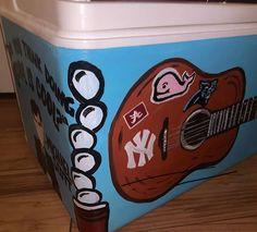 COOLERSbyU Painted Cooler Examples | Beer Pong Balls Corner | Tags: beer pong, pong balls, cooler corner Fraternity Coolers, Frat Coolers, Painted Coolers, Cooler Painting, Beer Pong, Painting Inspiration, Balls, Corner, Ideas
