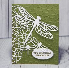 Stamped Sophisticates: Card using New Stampin' Up! Dragonfly Die