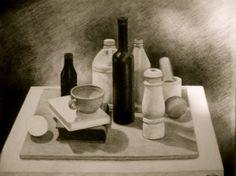 Drawing stilllife | fruit still life drawing