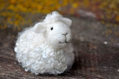 Sheep Needle Felting Kit - Lamb Craft Kit.