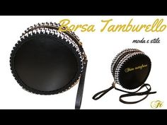 TUTORIAL: borsa tamburello/tambourine bag/ crochet bag***lafatatuttofare*** - YouTube