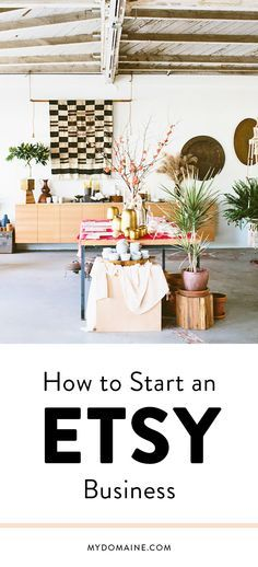 How to Start an Etsy...