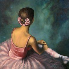 Here is my most recent painting of a seated Ballerina. She is x Oil on Canvas. A treasure I hate to let go but.a greater cause that is before us is in more need than me having a beautifu. Ballet Poses, Ballet Art, Ballet Dancers, Ballerina Kunst, Ballerina Painting, Dance Paintings, Ribbon Art, Tiny Dancer, Dance Art
