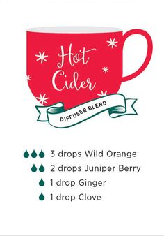 Hot Cider diffuser blend. This blend will fill your home with warm and delicious scents.