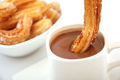 Homemade Churros with Cinnamon Sugar and Chocolate Sauce