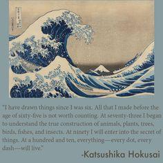 "Katsushika Hokusai. Under the Wave off Kanazawa (Kanazawa oki nami ura), also known as the Great Wave, from the series ""Thirty-six Views of Mount Fuji (Fugaku sanjurokkei)"", c. 1830/33. Clarence Buckingham Collection."