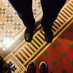 Floor patterns at the V and A Museum London.