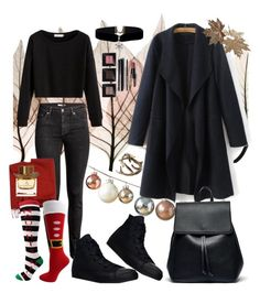 """hohoho"" by tinaioana on Polyvore featuring Artistica, H&M, Loro Piana, Converse, Sole Society, Burberry and Bobbi Brown Cosmetics"