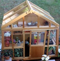 Miniature Greenhouse - Close View by cottonridge, via Flickr