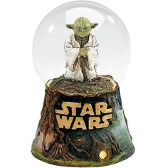 snow globe | Star Wars Yoda Water Globe - Encore - Star Wars - Snow Globes at ...