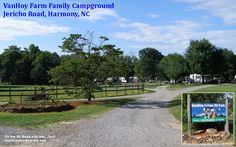 RV Route - Florida to the Northeast. Day 3 is VanHoy Family Farm Campground in Harmony, NC. Rv Parks, Day Trips, North Carolina, Things To Do, Farm Family, Adventure, Places, Florida, Travel