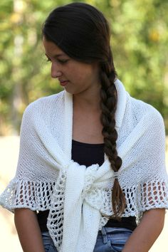 SALE Ivory Off White Wrap Shawl Scarf Rustic by ettygeller on Etsy